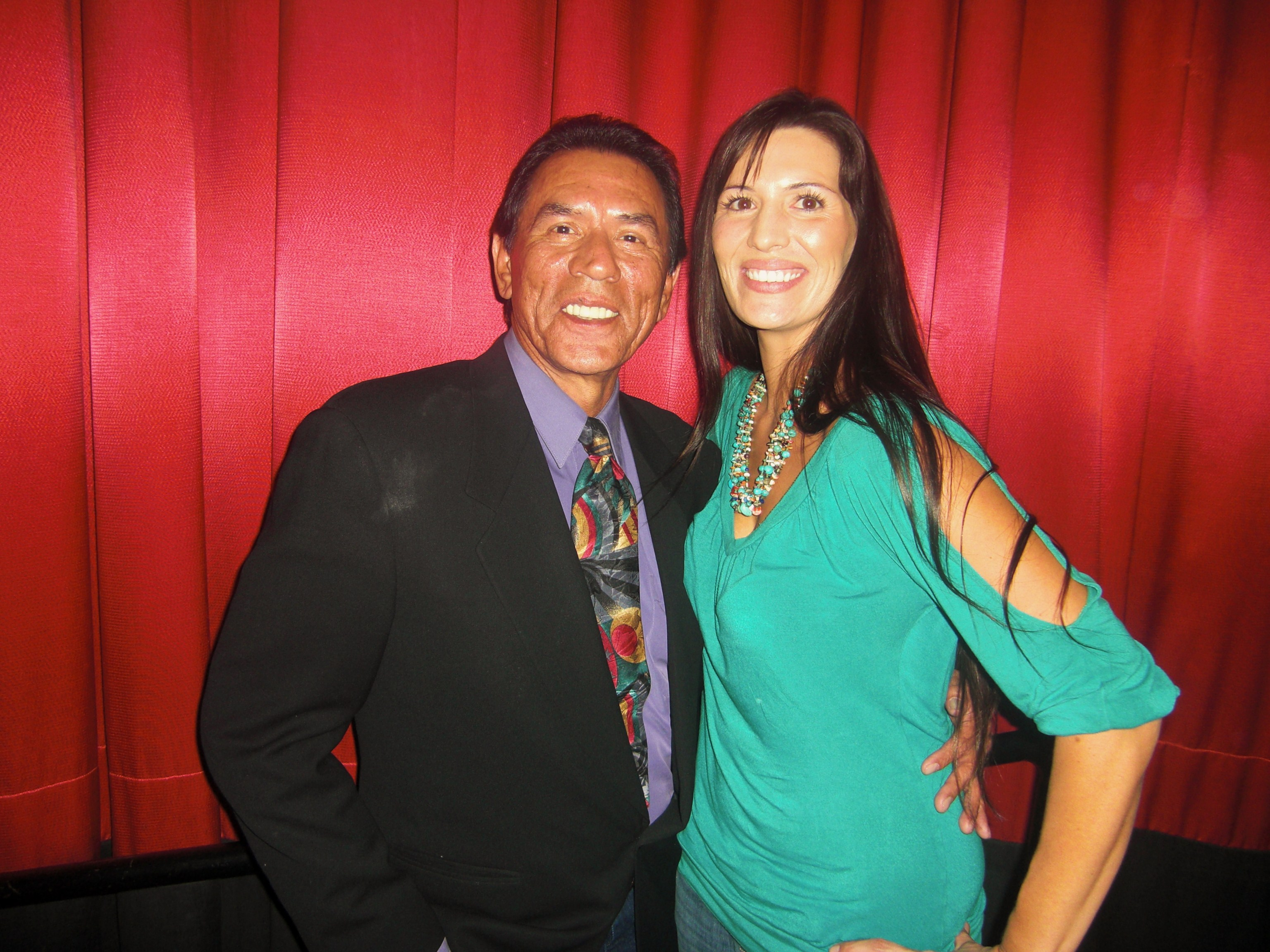 Micqaela and actor Wes Studi